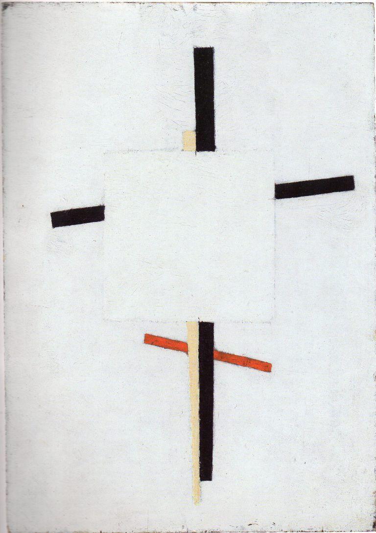 Kasimir Malévitch, Suprématisme de l'esprit, 1920, huile sur panneau.