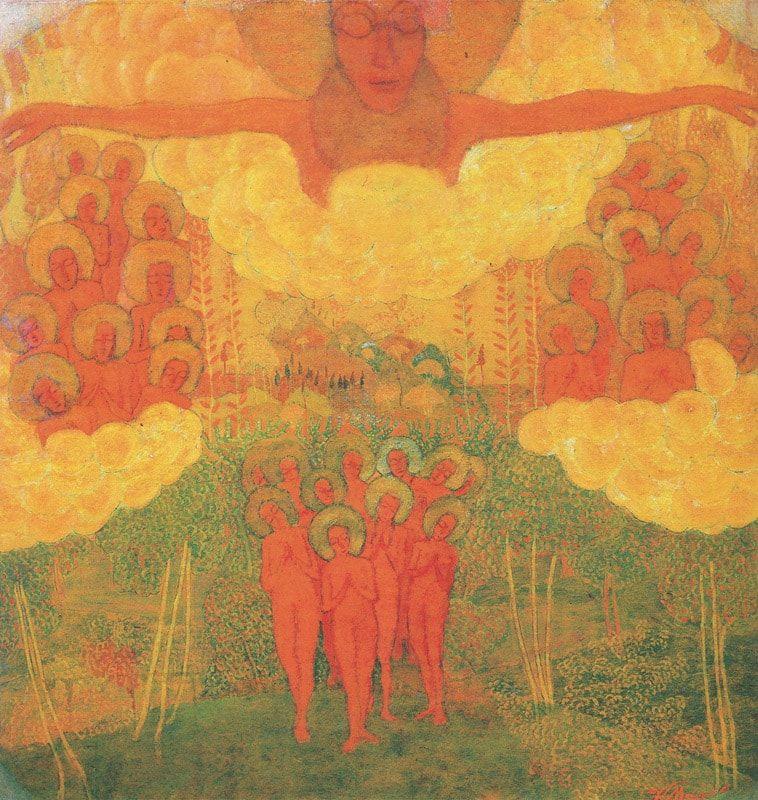 Kasimir Malévitch, Triomphe du ciel, 1906-1908, tempera sur carton.