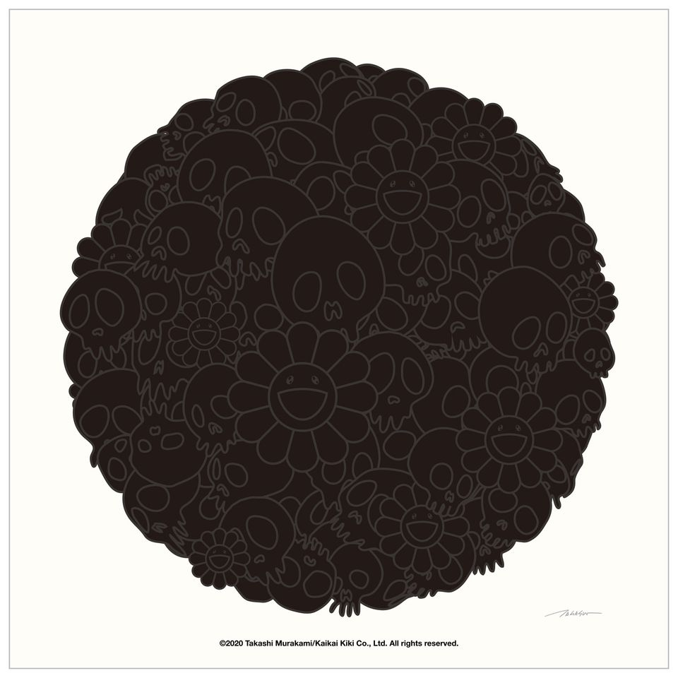 Takashi Murakami's Untitled 1, one of six designs to raise money for Black Lives Matter and other related causes