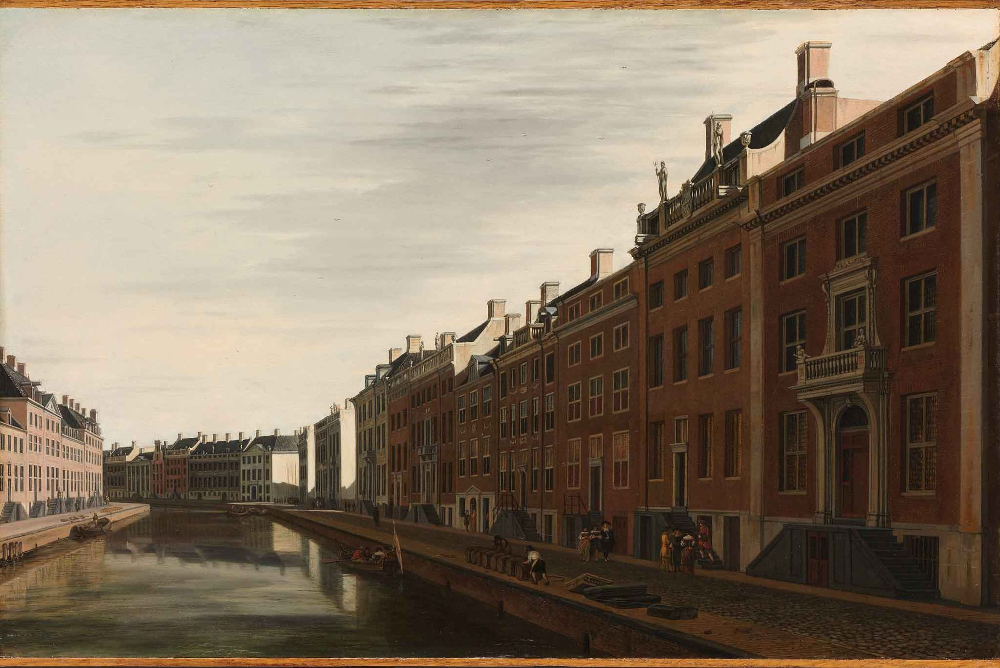 Gerrit Berckheyde's 1672 painting of the Golden Bend in the Herengracht, Amsterdam's most expensive canalside properties