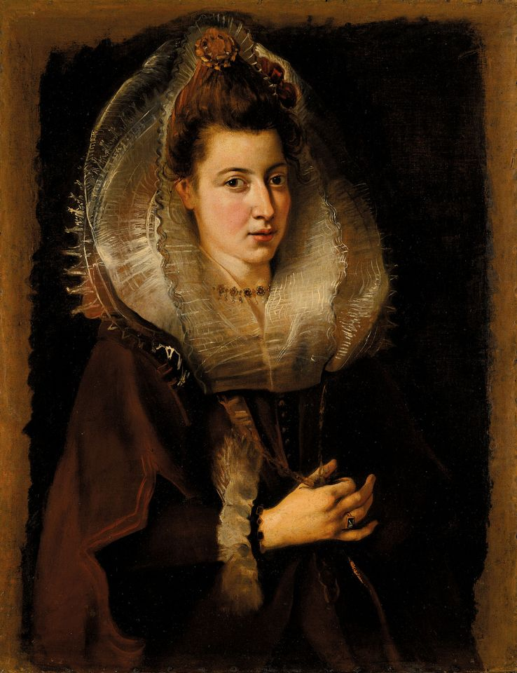 Rubens's Portrait of a young woman, half-length, holding a chain, sold for £3.9m with fees