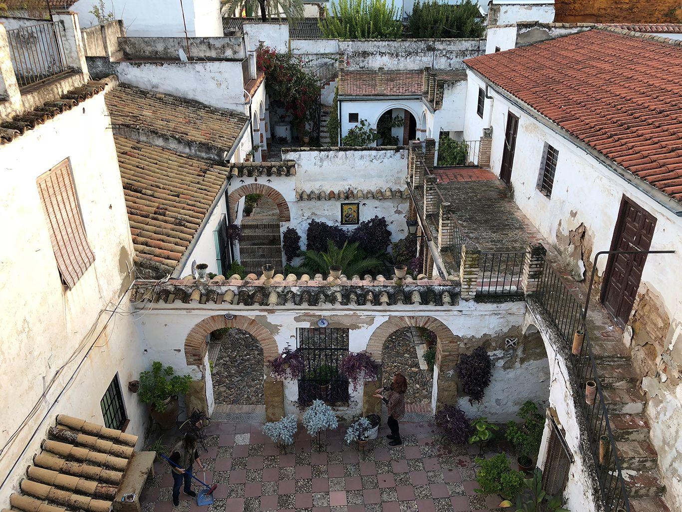 The courtyard houses of Axerquía in Córdoba, Spain