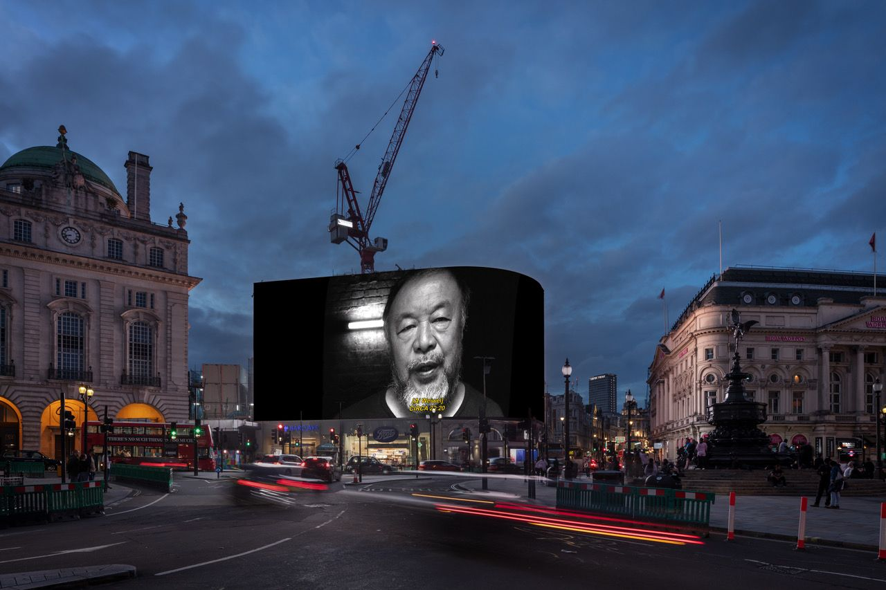 Ai Weiwei's film will appear on a billboard in London's Picadilly Circus next month