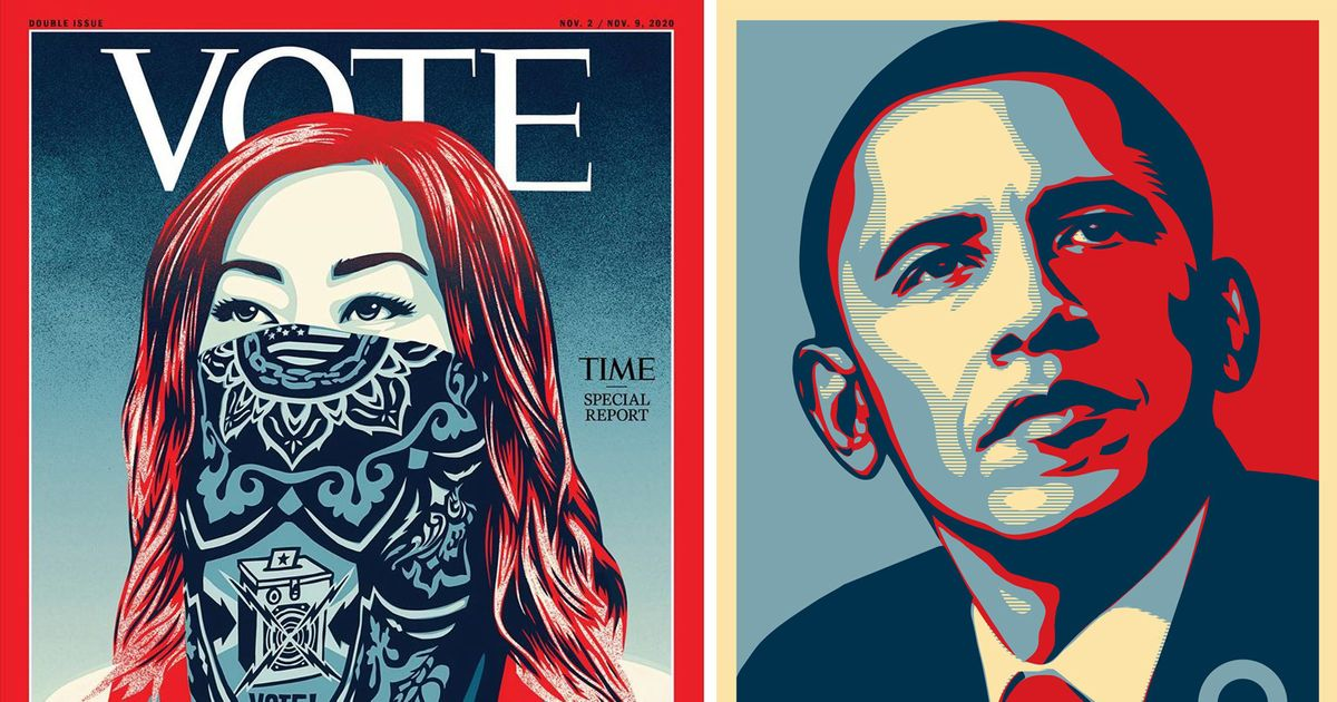Shepard Fairey—creator of famous Obama 'Hope' poster—makes new Time cover image ahead of US election