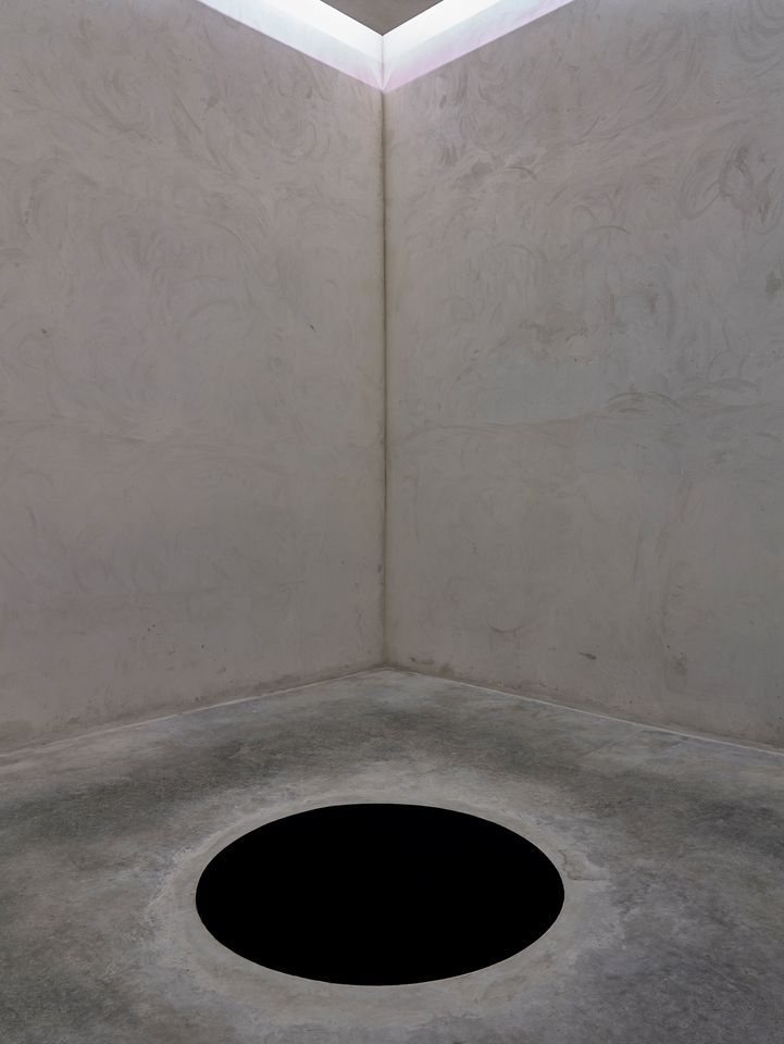 The interior of Anish Kapoor's installation Descent into Limbo (1992) at the Fundação de Serralves, Museum of Contemporary Art in Porto