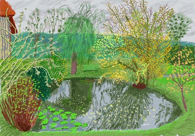 David Hockney, The Pond in Autumn (1 de novembro de 2020)