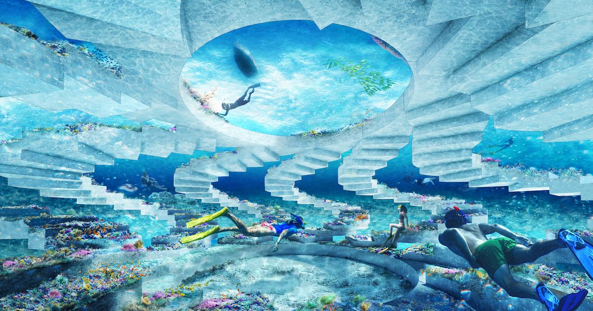 A seven-mile underwater sculpture park is due to open in Miami Beach next December