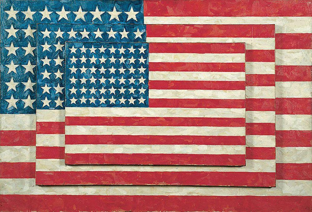 Jasper Johns's Three Flags (1958)