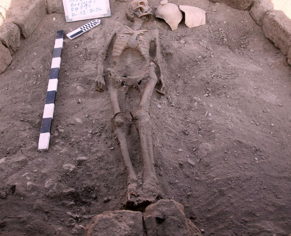 Remarkably preserved human and animal remains have also been unearthed in the ancient city