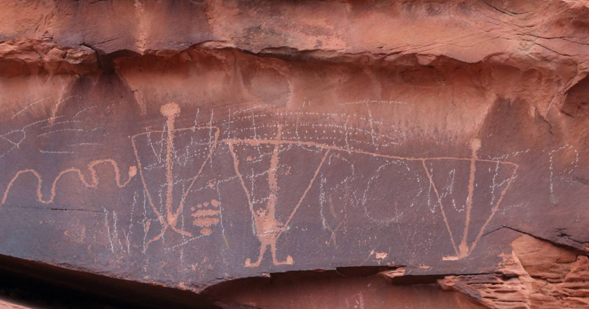 Another ancient petroglyph panel has been vandalised in Utah