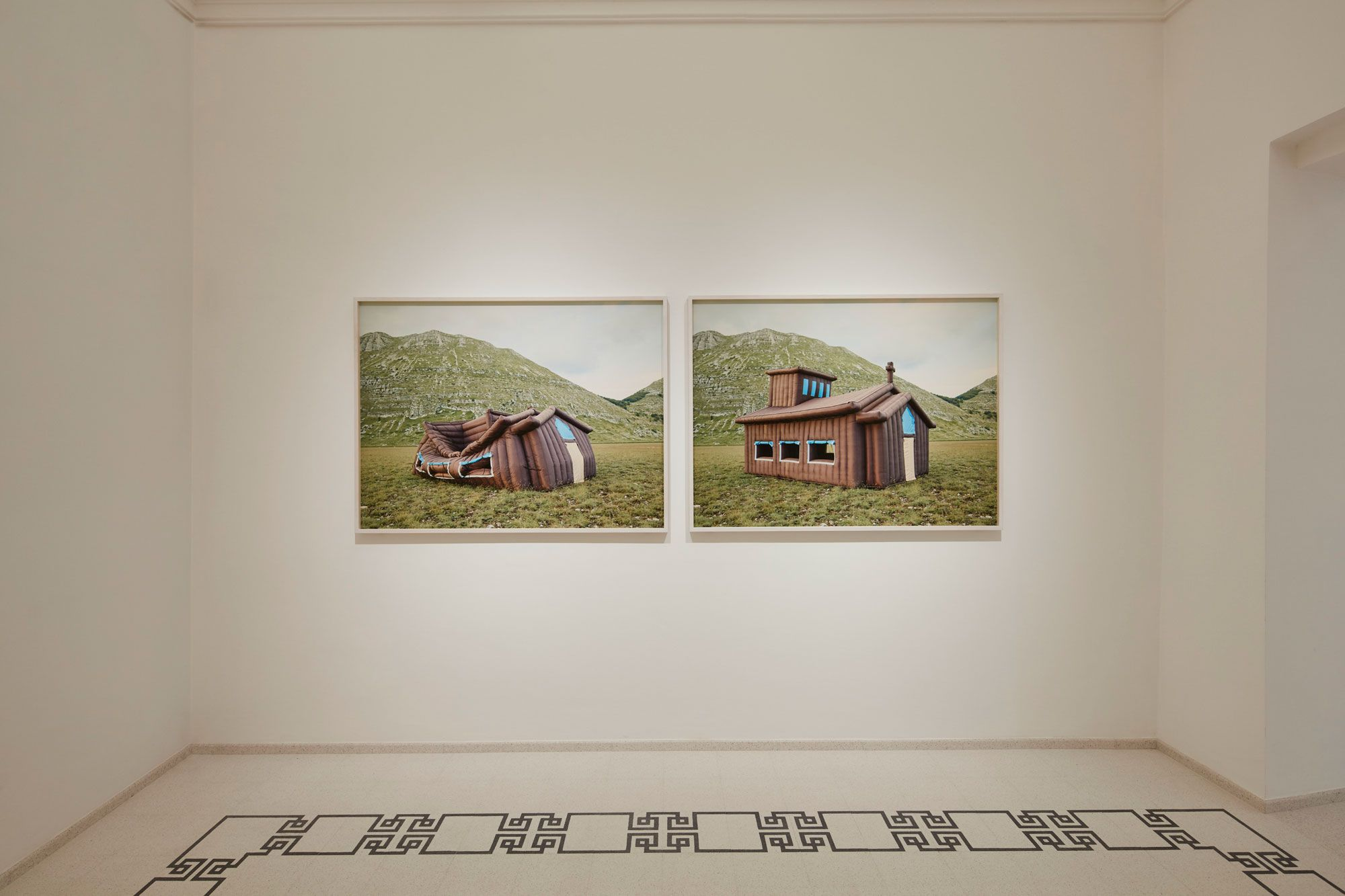 Photographer Stefano Cerio's work Aquila (2020) in the inaugural exhibition at MaXXI L'Aquila