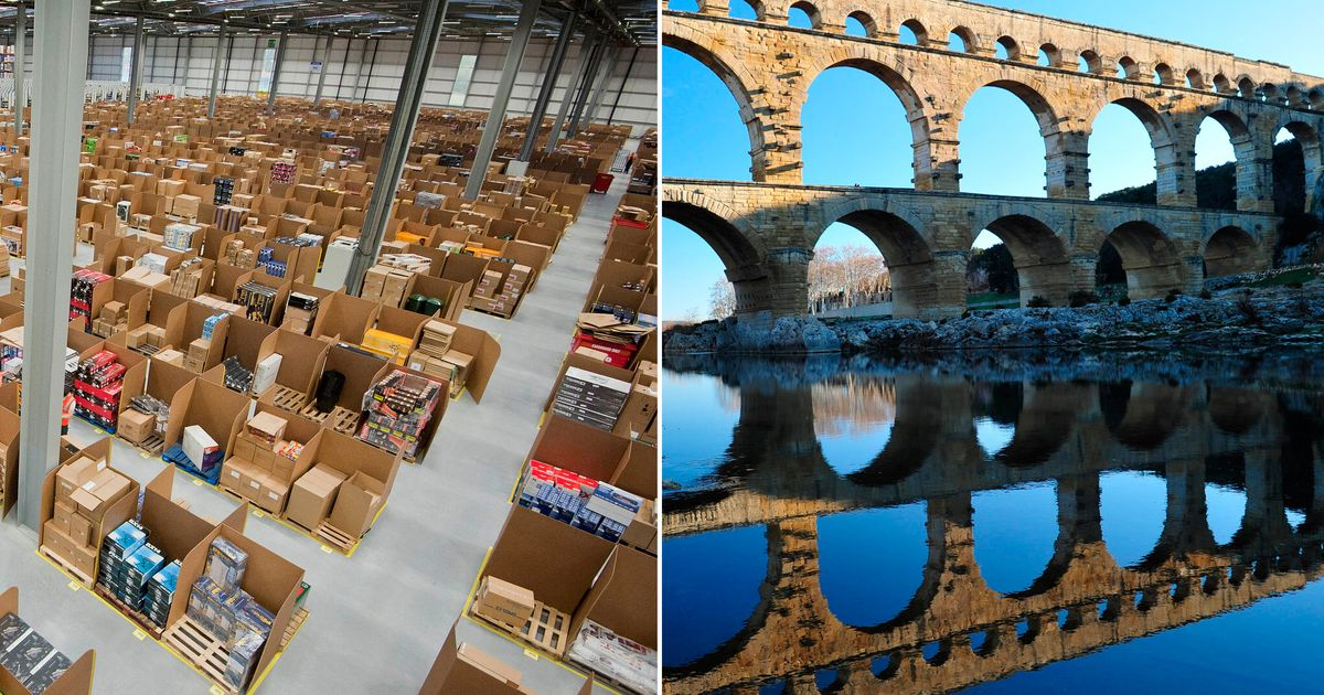 Amazon's plans to build massive warehouse near Roman aqueduct in south of France cause concern