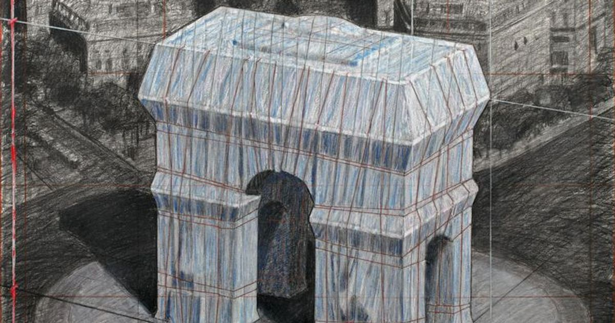 Date confirmed for Christo wrap of Arc de Triomphe in Paris