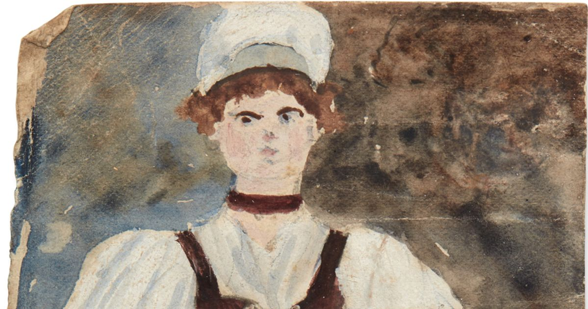 Charlotte Bronte watercolour—painted when she was 12—among treasures in Honresfield Library at risk of being sold to private buyer