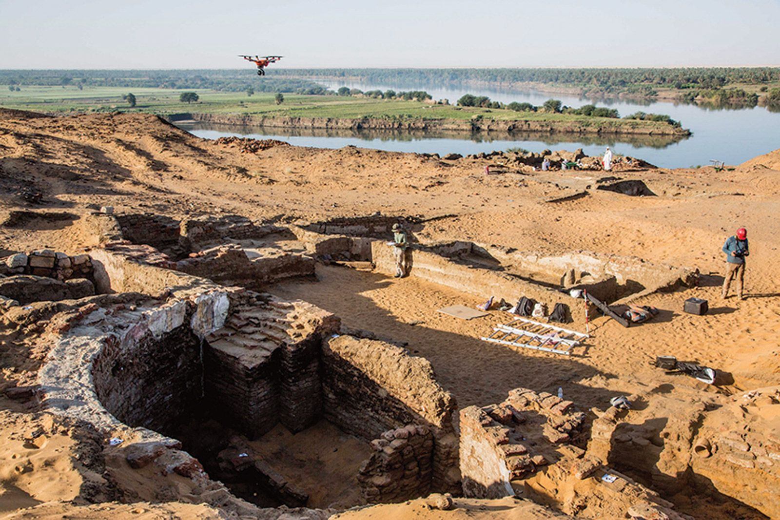 Excavations in Old Dongola revealed two walls of a 6m-wide apse as well as the dome of a large tomb