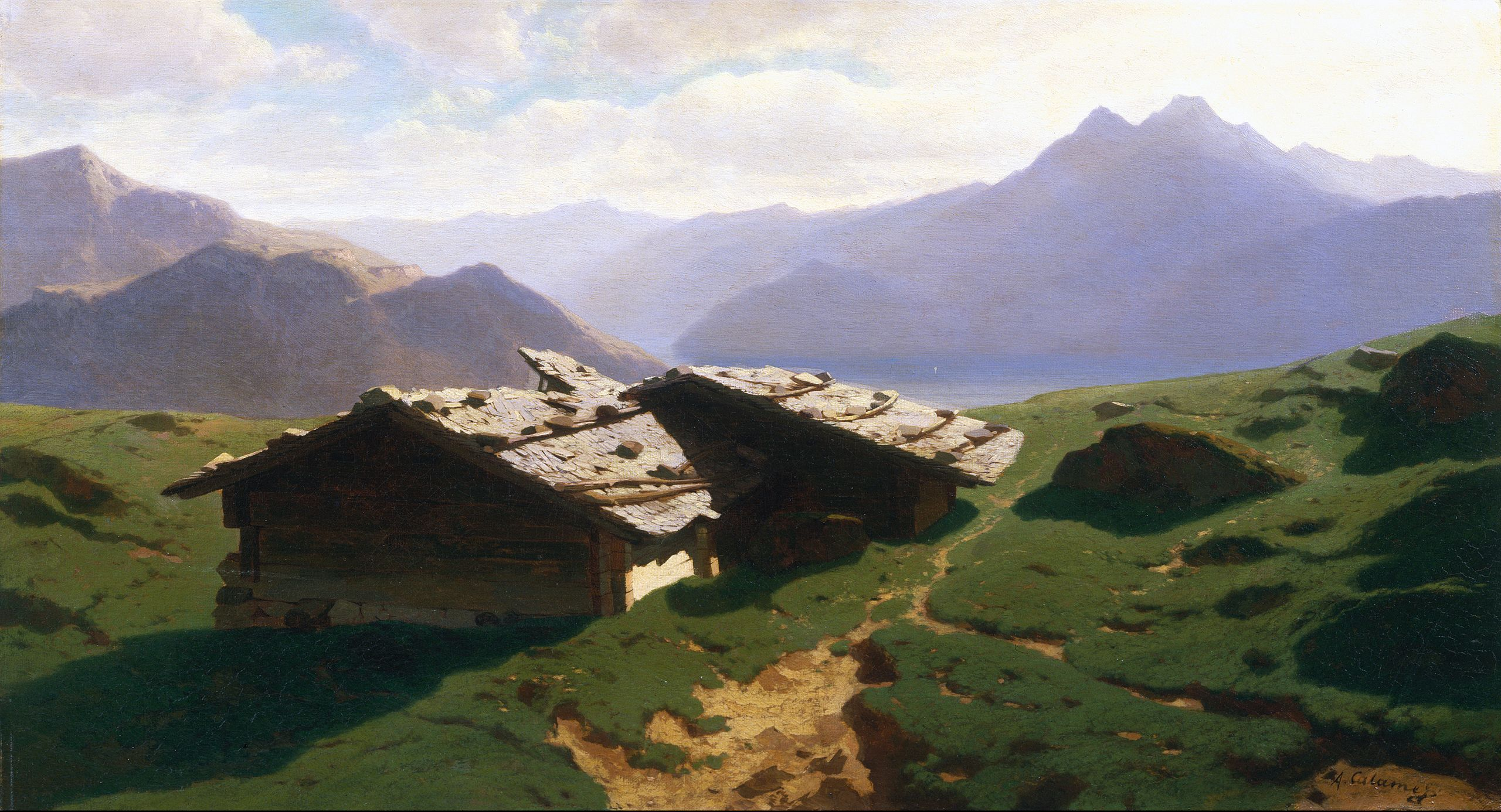 Alexandre Calame's Chalets at Rigi (1861)
